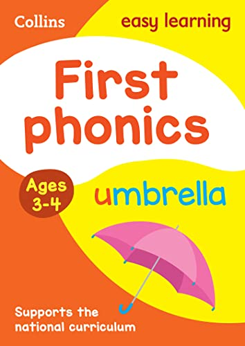 First Phonics Ages 3-4 (Collins Easy Learning Preschool) By Collins Easy Learning