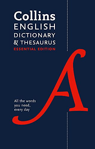 Collins English Dictionary and Thesaurus Essential By Collins Dictionaries
