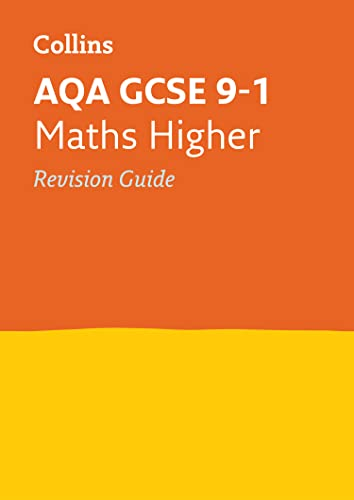 AQA GCSE 9-1 Maths Higher Revision Guide By Collins GCSE