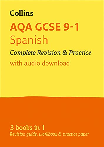 Grade 9-1 GCSE Spanish AQA All-in-One Complete Revision and Practice (with free flashcard download) By Collins GCSE