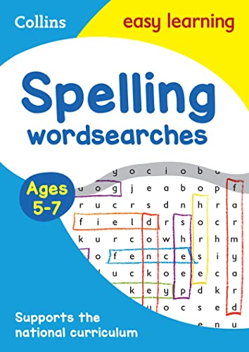 Spelling Word Searches Ages 5-7 (Collins Easy Learning KS1) By Collins Easy Learning