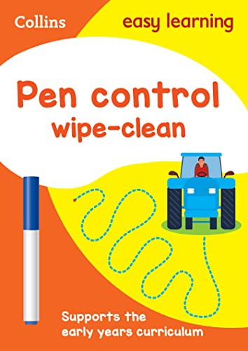 Pen Control Age 3-5 Wipe Clean Activity Book (Collins Easy Learning Preschool) By Collins Easy Learning