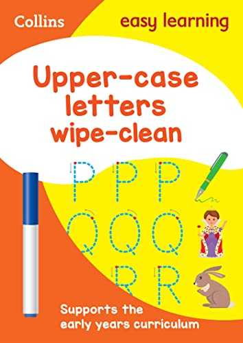 Upper Case Letters Age 3-5 Wipe Clean Activity Book By Collins Easy Learning