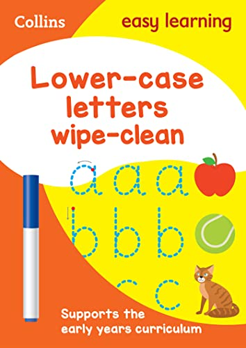 Lower Case Letters Age 3-5 Wipe Clean Activity Book By Collins Easy Learning