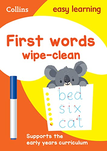First Words Age 3-5 Wipe Clean Activity Book By Collins Easy Learning