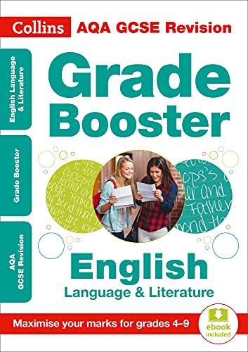 AQA GCSE 9-1 English Language And English Literature Grade Booster for grades 4-9 By Collins GCSE