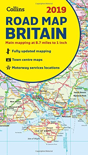 2019 Collins Map of Britain By Collins Maps