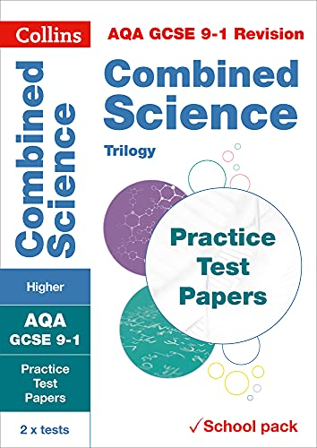 AQA GCSE 9-1 Combined Science Higher Practice Test Papers By Collins GCSE