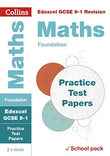 Edexcel GCSE 9-1 Maths Foundation Practice Test Papers By Collins GCSE