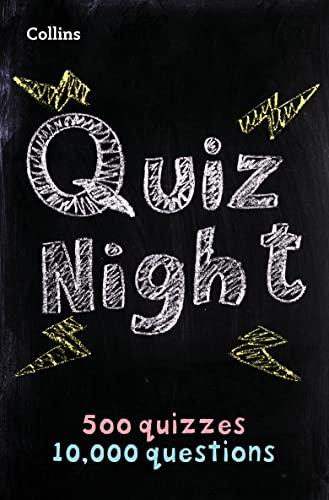 Collins Quiz Night: 10,000 original questions in 500 quizzes (Quiz Books) By Collins