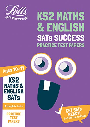 KS2 Maths and English SATs Practice Test Papers By Letts KS2