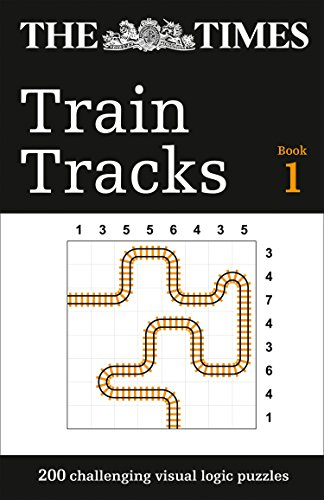 The Times Train Tracks Book 1: 200 challenging visual logic puzzles (Puzzle Books) By The Times Mind Games