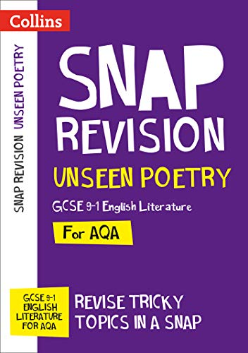 Unseen Poetry: New GCSE 9-1 English Literature AQA By Collins GCSE