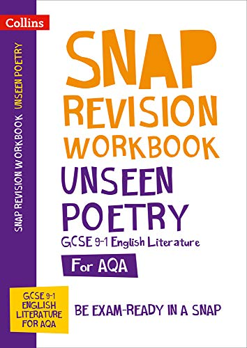 Unseen Poetry Workbook: New GCSE Grade 9-1 English Literature AQA By Collins GCSE