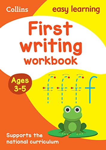 First Writing Workbook Ages 3-5 By Collins Easy Learning