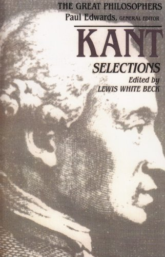 Kant Selections By Lewis White Beck