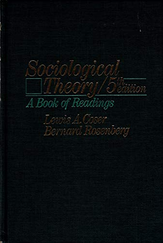 Sociological Theory By Lewis A. Coser