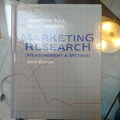 Marketing Research By Donald S. Tull