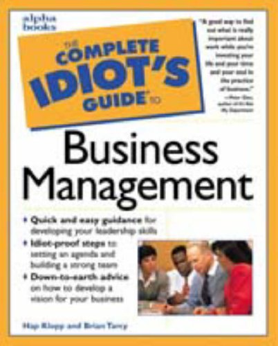 Cig: To Managing A Business By Hap Klopp