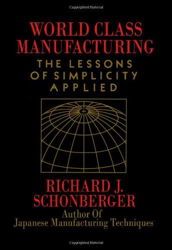World Class Manufacturing by Richard J. Schonberger
