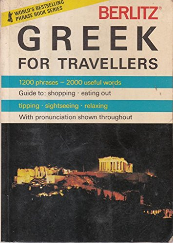Berlitz Greek for Travellers By Berlitz Guides