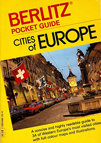 Pocket Guide Cities of Europe By Editions Berlitz