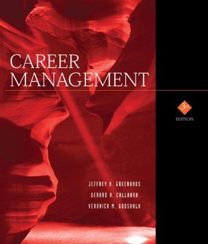 Career Management By Jeffrey H. Greenhaus