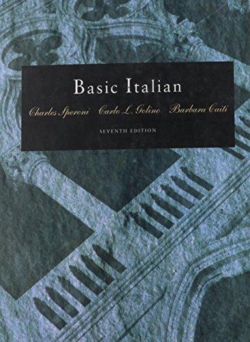 Basic Italian By Charles Speroni