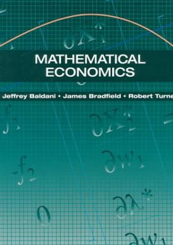 Mathematical Economics By Jeffrey Baldani