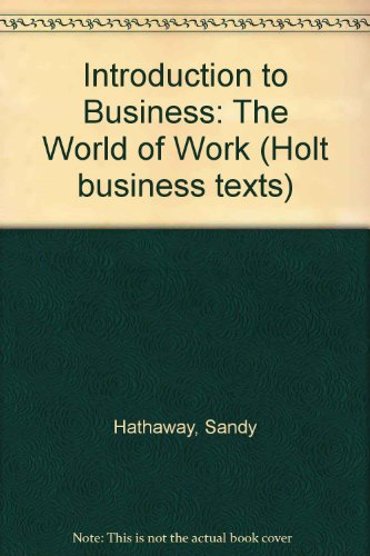 Introduction to Business By Sandy Hathaway