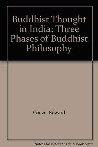 Buddhist Thought in India By Edward Conze