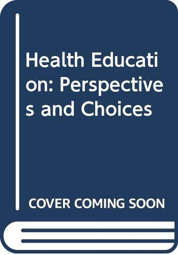 Health Education By Edited by Ian Sutherland