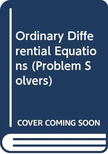 Ordinary Differential Equations By John Heading