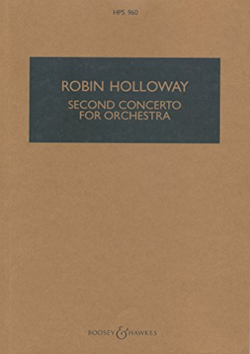 Concerto Nr. 2 Op. 40 Orchestre By Robin Holloway
