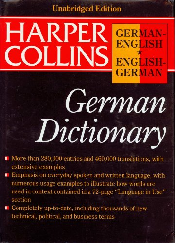 Harpercollins Robert German Dictionary By Harper Collins Publishers