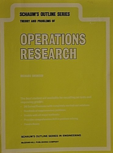 Schaum's Outline of Theory and Problems of Operations Research By Richard Bronson