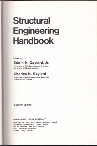 Structural Engineering Handbook By Edwin H. Gaylord