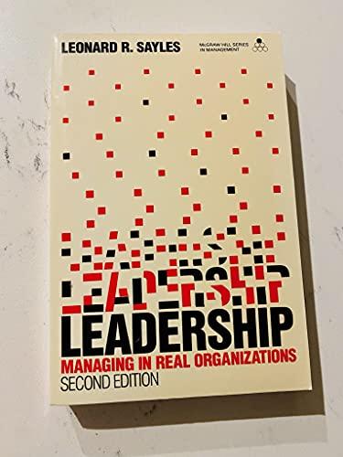Leadership By Leonard R. Sayles