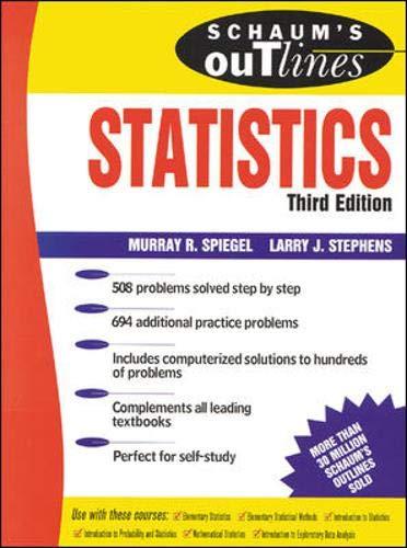 Schaum's Outline of Statistics By Murray Spiegel