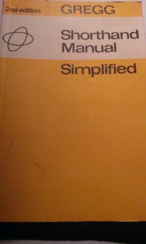 Gregg Shorthand Manual Simplified By J.R. Gregg