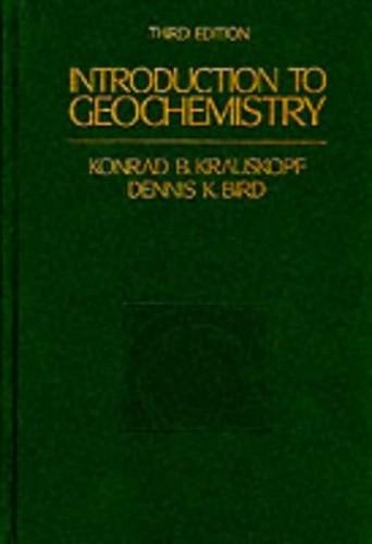 Introduction to Geochemistry -Ise (McGraw-Hill International Editions Series) By Konrad B. Krauskopf