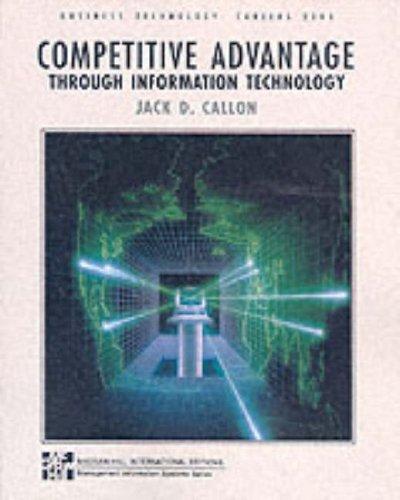 Competitive Advantage Through Information Technology By Jack D. Callon