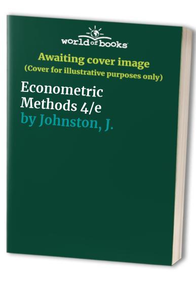 Econometric Methods By J. Johnston