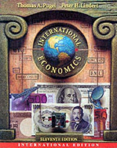 International Economics By Peter H. Lindert