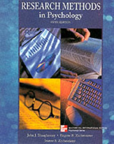 Research Methods in Psychology By Shaughnessy