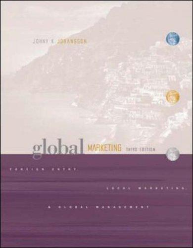 Global Marketing By Johny Johansson
