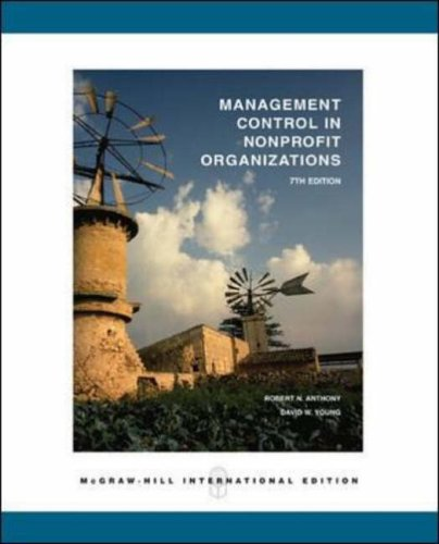 Management Control in Non-profit Organizations By Robert N. Anthony