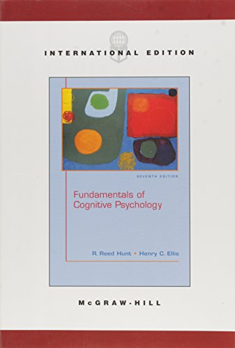 Fundamentals Of Cognitive Psychology By R Reed Hunt