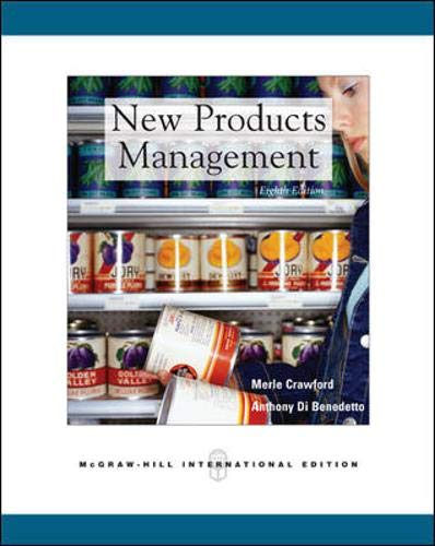 New Products Management By C. Merle Crawford