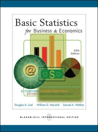 Basic Statistics for Business and Economics with Student CD-ROM By Douglas A. Lind